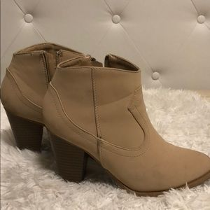 Nude ankle boots